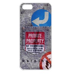Warning Apple Iphone 5 Seamless Case (white) by Contest1761904