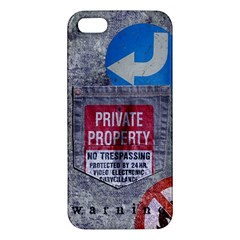 Warning Iphone 5 Premium Hardshell Case by Contest1761904