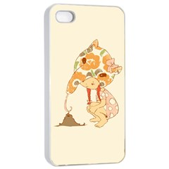 Anita Apple iPhone 4/4s Seamless Case (White) by RachelIsaacs