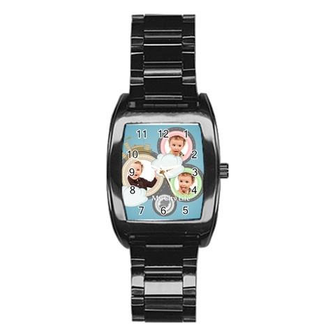 Kids By Anita   Stainless Steel Barrel Watch   Cvm2b3qovm2i   Www Artscow Com Front
