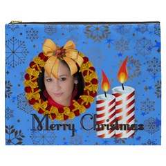 Merry Christmas By Debe Lee   Cosmetic Bag (xxxl)   Mpge34tyvvs5   Www Artscow Com Front