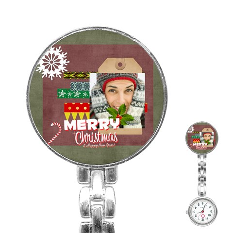 Merry Christmas By Merry Christmas   Stainless Steel Nurses Watch   0lxr7oufdyme   Www Artscow Com Front