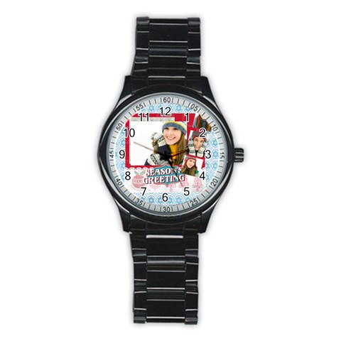 Merry Christmas By Merry Christmas   Stainless Steel Round Watch   Bbwebx3h38fh   Www Artscow Com Front