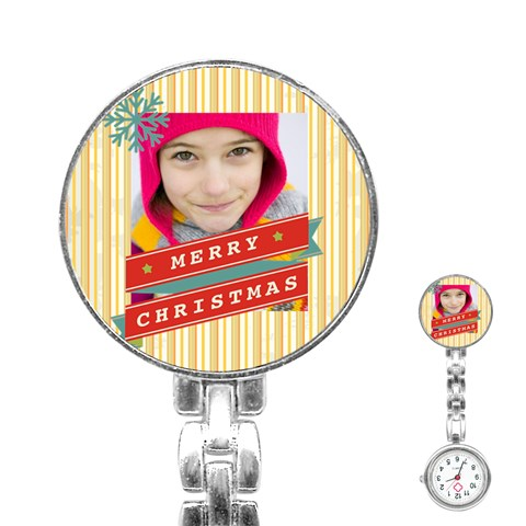 Merry Christmas By Merry Christmas   Stainless Steel Nurses Watch   2o8ccd7653vh   Www Artscow Com Front