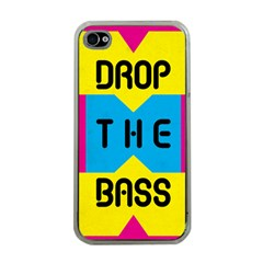 DROP THE BASS Apple iPhone 4 Case (Clear) by Contest1775858