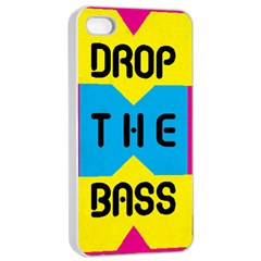 Drop The Bass Apple Iphone 4/4s Seamless Case (white) by Contest1775858