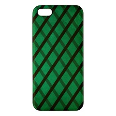 Green Stripes Iphone 5s Premium Hardshell Case by Contest1775858