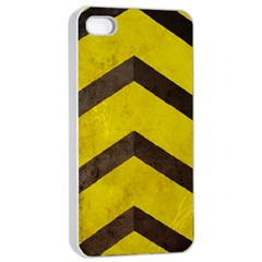 Caution Apple Iphone 4/4s Seamless Case (white) by Contest1775858