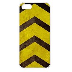 Caution Apple Iphone 5 Seamless Case (white) by Contest1775858