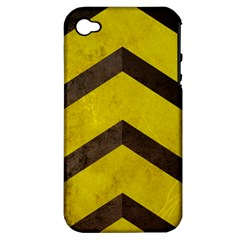 Caution Apple Iphone 4/4s Hardshell Case (pc+silicone) by Contest1775858