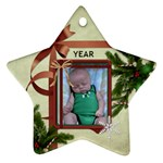Christmas Date Star Ornament (2 Sides) - Star Ornament (Two Sides)