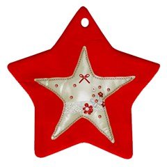 Ornament By Deca   Star Ornament (two Sides)   Znkymb06t01w   Www Artscow Com Back