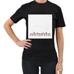Women t shirt - Women s T-Shirt (Black) (Two Sided)