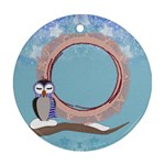 Owl girl ornament - Ornament (Round)