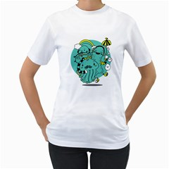 Monsters Womens  T-shirt (White) by Contest1771913