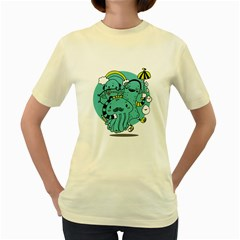 Monsters  Womens  T-shirt (Yellow) by Contest1771913