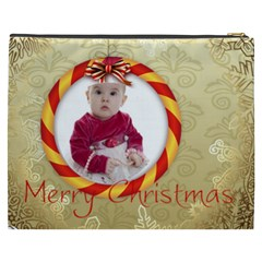 Merry Christmas By Debe Lee   Cosmetic Bag (xxxl)   Mg37uqv299dt   Www Artscow Com Back