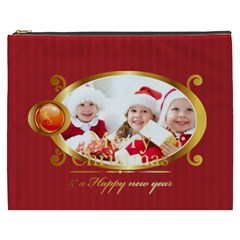 Merry Christmas By Xmas   Cosmetic Bag (xxxl)   Ota02slnw1nz   Www Artscow Com Front