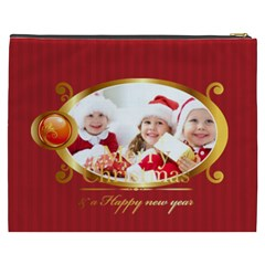Merry Christmas By Xmas   Cosmetic Bag (xxxl)   Ota02slnw1nz   Www Artscow Com Back