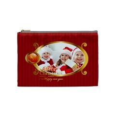 Merry Christmas By Xmas   Cosmetic Bag (medium)   1kxmjm2dlduo   Www Artscow Com Front