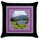 Loving Lilac Throw Pillow Casse - Throw Pillow Case (Black)