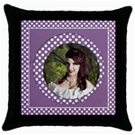 My Lilac Throw Pillow Casse - Throw Pillow Case (Black)