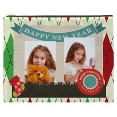 Merry Christmas By Joely   Cosmetic Bag (xxxl)   Vqt0v0fu0x2p   Www Artscow Com Front