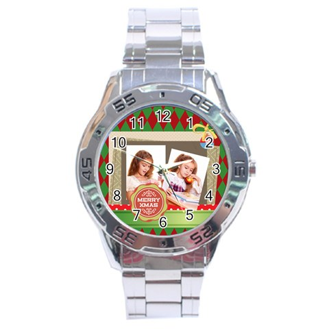 Xmas By Joely   Stainless Steel Analogue Watch   Luy99zdivg6q   Www Artscow Com Front