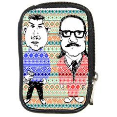 The Cheeky Buddies Compact Camera Leather Case by doodlelabel