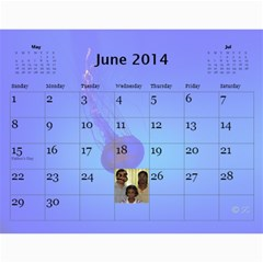 2014 Calender By Kezia Finny   Wall Calendar 11  X 8 5  (12 Months)   Zll1hgvf58vv   Www Artscow Com Jun 2014