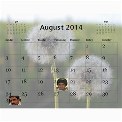 2014 Calender By Kezia Finny   Wall Calendar 11  X 8 5  (12 Months)   Zll1hgvf58vv   Www Artscow Com Aug 2014