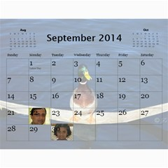 2014 Calender By Kezia Finny   Wall Calendar 11  X 8 5  (12 Months)   Zll1hgvf58vv   Www Artscow Com Sep 2014
