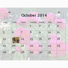 2014 Calender By Kezia Finny   Wall Calendar 11  X 8 5  (12 Months)   Zll1hgvf58vv   Www Artscow Com Oct 2014