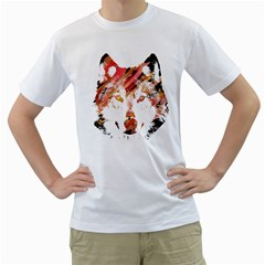 Wolf Mens  T Shirt (white) by ILANA