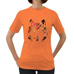 Wolf Womens' T Shirt (colored) by ILANA