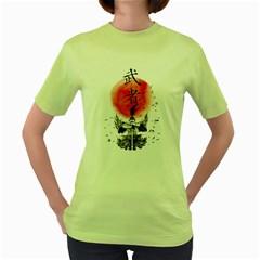 The Warrior Womens  T-shirt (Green) by DesignsbyReg2