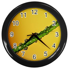 Drops Wall Clock (black) by Siebenhuehner