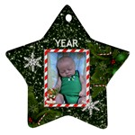 Christmas Date Ornament (2 Sides) - Star Ornament (Two Sides)
