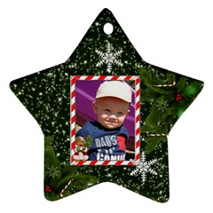Christmas Date Ornament (2 Sides) By Lil    Star Ornament (two Sides)   Yprqsxxz6ky6   Www Artscow Com Back