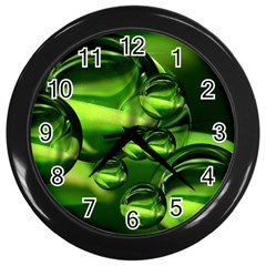Balls Wall Clock (black) by Siebenhuehner