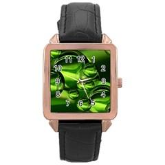 Balls Rose Gold Leather Watch  by Siebenhuehner