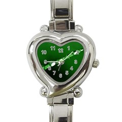 Drops Heart Italian Charm Watch  by Siebenhuehner
