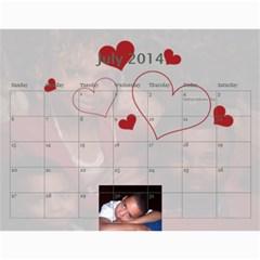 Webster By Wilma Phillips   Wall Calendar 11  X 8 5  (18 Months)   Ola9kr8yqjx4   Www Artscow Com Jul 2014