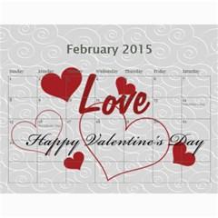 Webster By Wilma Phillips   Wall Calendar 11  X 8 5  (18 Months)   Ola9kr8yqjx4   Www Artscow Com Feb 2015