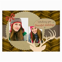 Merry Christmas By Merry Christmas   Large Glasses Cloth (2 Sides)   5zdau1gckhes   Www Artscow Com Front