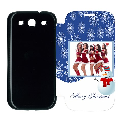 Merry Christmas By Angena Jolin   Samsung Galaxy S3 Flip Cover Case   B2z25niu9u27   Www Artscow Com Front