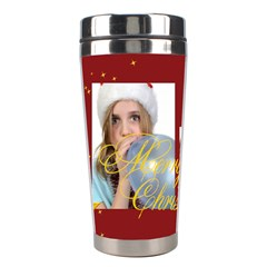 Merry Christmas By M Jan   Stainless Steel Travel Tumbler   4wmvgv5r9vxj   Www Artscow Com Left
