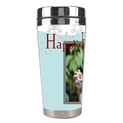 Merry Christmas By M Jan   Stainless Steel Travel Tumbler   Fo8yesaq42ng   Www Artscow Com Left