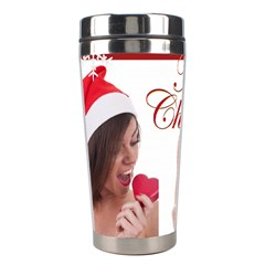Merry Christmas By M Jan   Stainless Steel Travel Tumbler   Gxdc9bpi80rb   Www Artscow Com Left