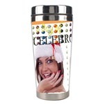 merry christmas - Stainless Steel Travel Tumbler